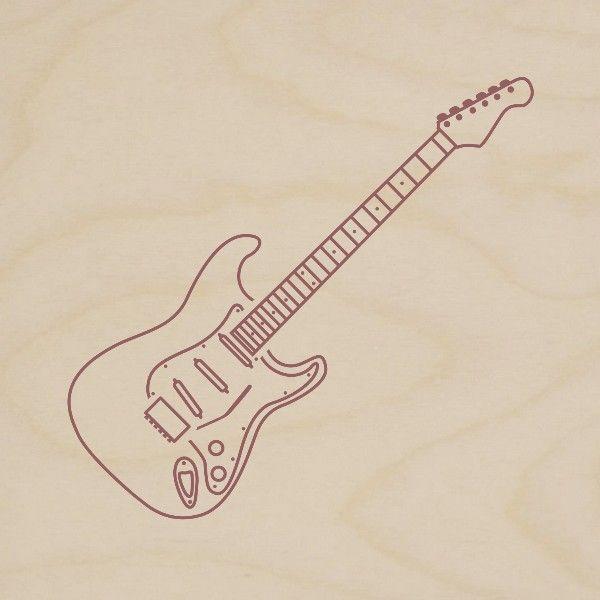 obraz drewniany gitara elektryczna 1