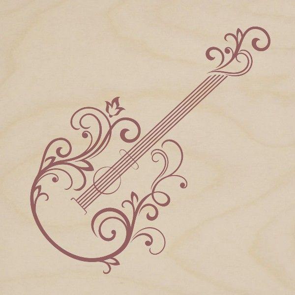 obraz drewniany gitara klasyczna